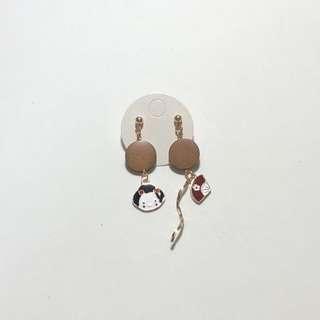 全新日本木板吊飾耳環(07)