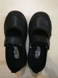 Black School Shoes B first size 18