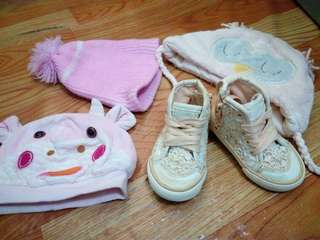 Zara shoes Made in vietnam with Bonnet for baby