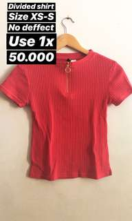 HnM divided shirt
