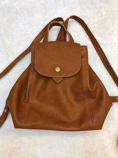 Longchamp cuir backpack