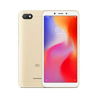Xiaomi Redmi 6A Android Phone (Gold) Or (Gray) Or (Blue) (CVAII-SM165)