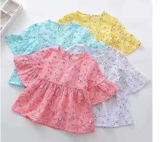 Clearance sales kids Korean style puff sleeve blouse