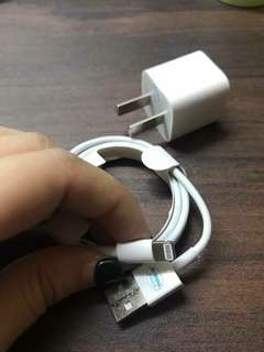 Iphone 5W Charger + Adapter