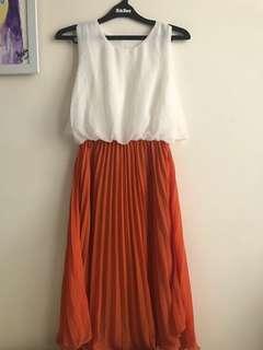 Midi dress duo colour