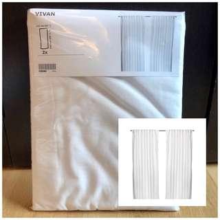 IKEA Vivan White Curtains
