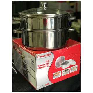 3-in-1 Stainless Steel Cookware Set