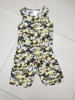 Clearance sales boys camouflage top & short