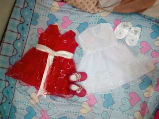 Take all!Baptismal Dress with shoes And party dress