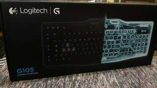 Logitech G105 Gaming Keyboard with box