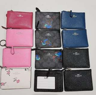 Coach Mini Skinny ID Case in Crossgrain Leather size 11x8 With key ring