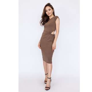 Cut Out Side Fitted Dress