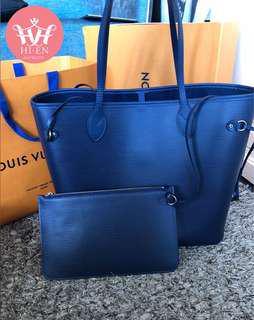 Louis Vuitton Neverfull Epi Navy Blue