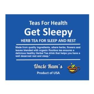 Herbal Tea for to get some sleep – Get Sleepy…HERB TEA FROM USA.
