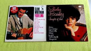 SHIRLEY BASSEY. thoughts of love ● SLIM WHITMAN . yodeling ( buy 1 get 1 free )     Vinyl record