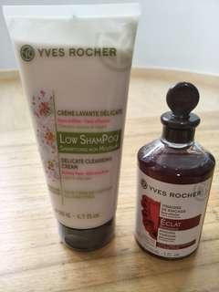 Yves Rocher Shampoo and rising vinegar