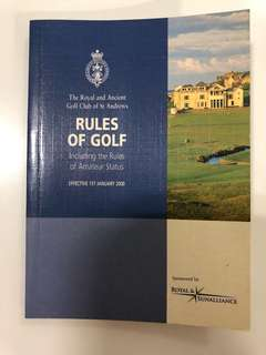 Pre Loved Rules Of Golf Book