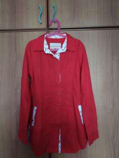 Long Sleeve Ladies Blouse (Red)