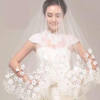 Bridal Petals Veil