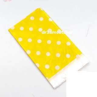 Yellow Polka Dot disposable table covers