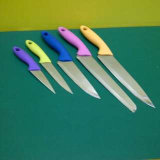 Oxone Pisau Set 6 Pcs Rainbow OX-606 ›› 5Pcs Knife Set + 1 Rak Cantik