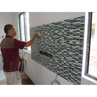 Kitchen Back Splash Tiling