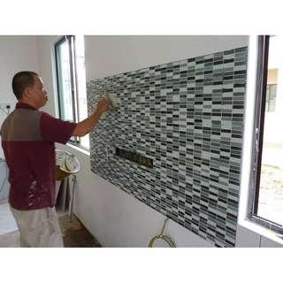 Kitchen Back Splash Tiling