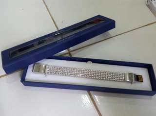 gelang wanita, swarovski crystal 8gb USB bracelet