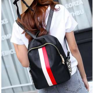 Cool White Red Backpack