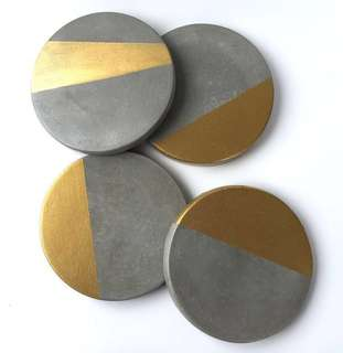 Concrete coasters customised