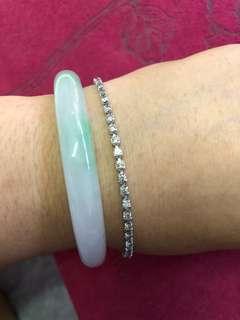 減價🈹二手18k金2.12ct天然鑽石手鏈