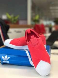 ORIGINAL Adidas Superstar SlipOn RED