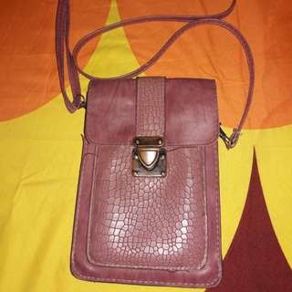 Tas slingbag kulit pocket hp