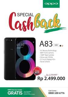 Oppo A83 Cashback 300rb Garansi Resmi
