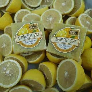 Handmade Lemon Peel Soap with Gluta Collagen