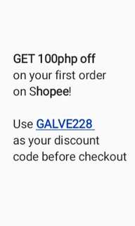 Get 100 php off on Shopee