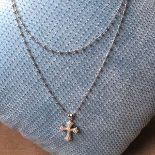 Aldo opera necklace with cross pendant