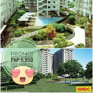 5,950 monthly  for 2 BR VINE residences At QUEZON CITY SM Novaliches