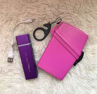Take both Php1200 •MPOW Power Tube Purple and WITZ Waterproof Case