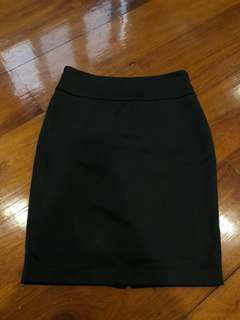 High waist pencil skirt (black)