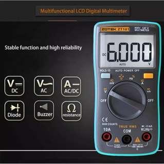 Digital Multimeter AC / DC Ammeter Voltmeter Ohm Meter