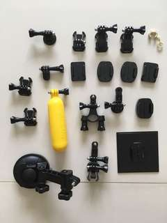 Gopro adapters connectors joints suction cup etc....