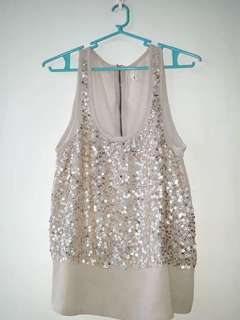 sleeveless with sequins