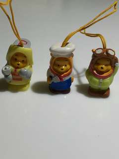 3 pcs of Winnie the Pooh hanging charms
