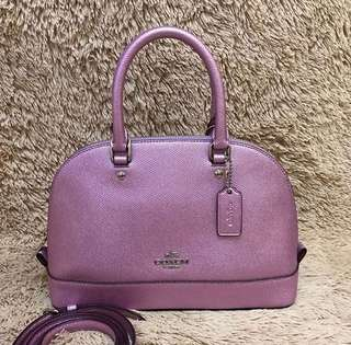 Coach Mini Sierra Metallic Lilac