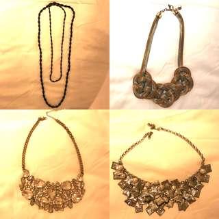 Silver Pearl Diamond Chucky Necklaces