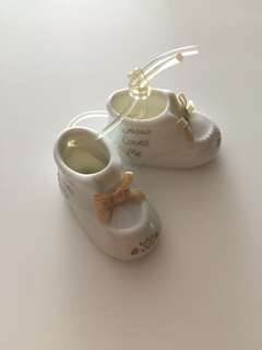 Precious Moments baby boots