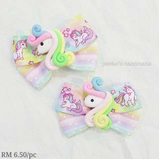 Unicorn hairclip