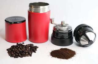 Tumbler with Coffee Grinder (free coffee beans!)