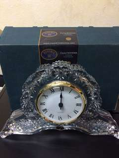 Crystal BOHEMA Clock